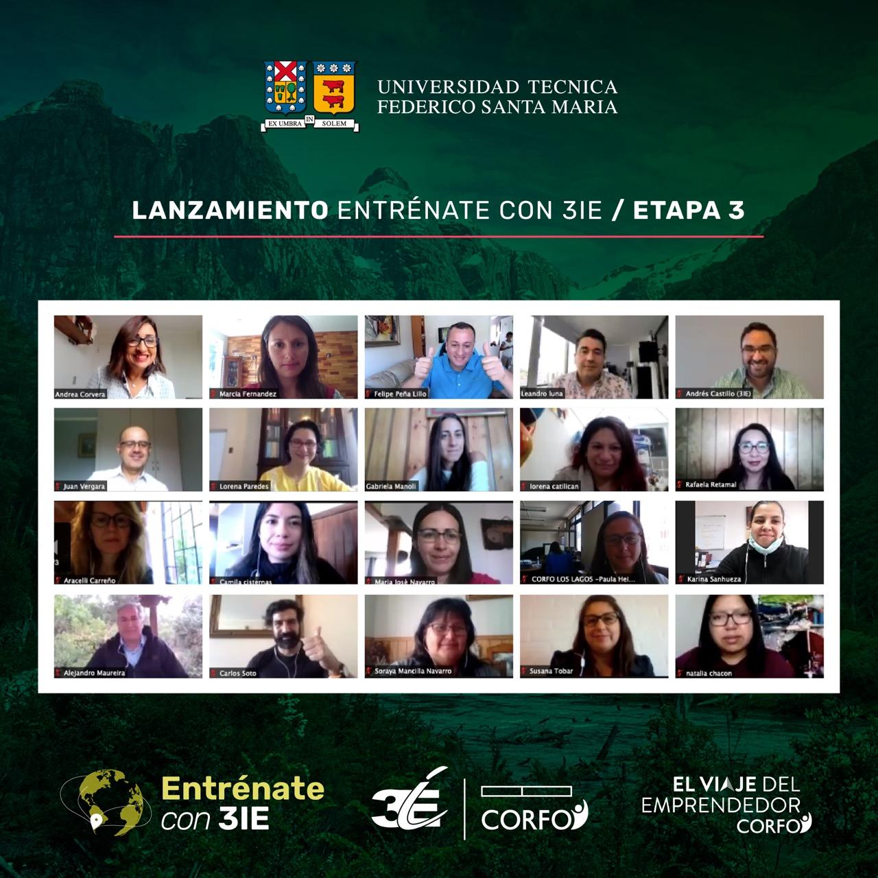 """Instituto 3IE da la bienvenida a más de 100 emprendedores que serán parte del Programa """"Entrénate con 3IE – Etapa 3"""""""