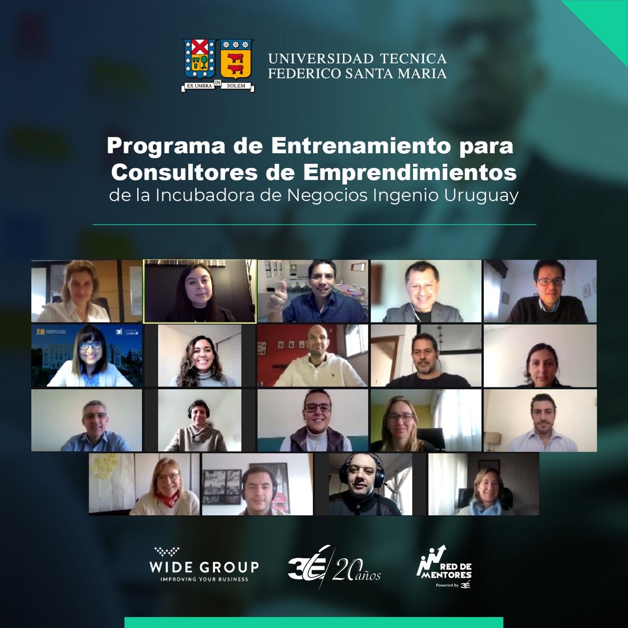 Incubadora de negocios USM estrena programa para consultores de emprendimientos en Uruguay.
